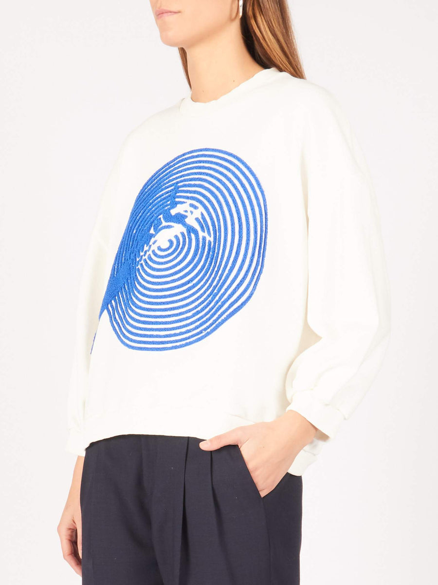 Henrik-Vibskov-Ecru-Swimming-Pool-Sweatshirt-on-body