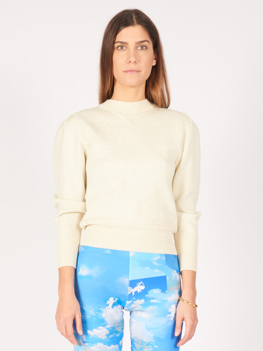Isabel-Marant-Etoile-Light-Grey-Kelaya-Sweater-on-body