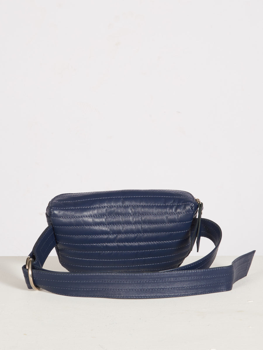 Beklina-Navy-Ribbed-Belt-Bag