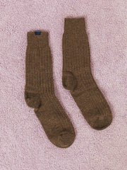 bleu-de-paname-brown-solid-socks