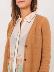 caramel-camel-v-neck-cardigan-on-body