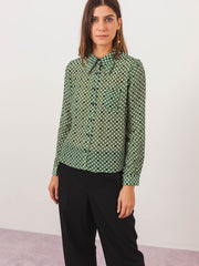caramel-forest-polka-dot-classic-shirt-on-body