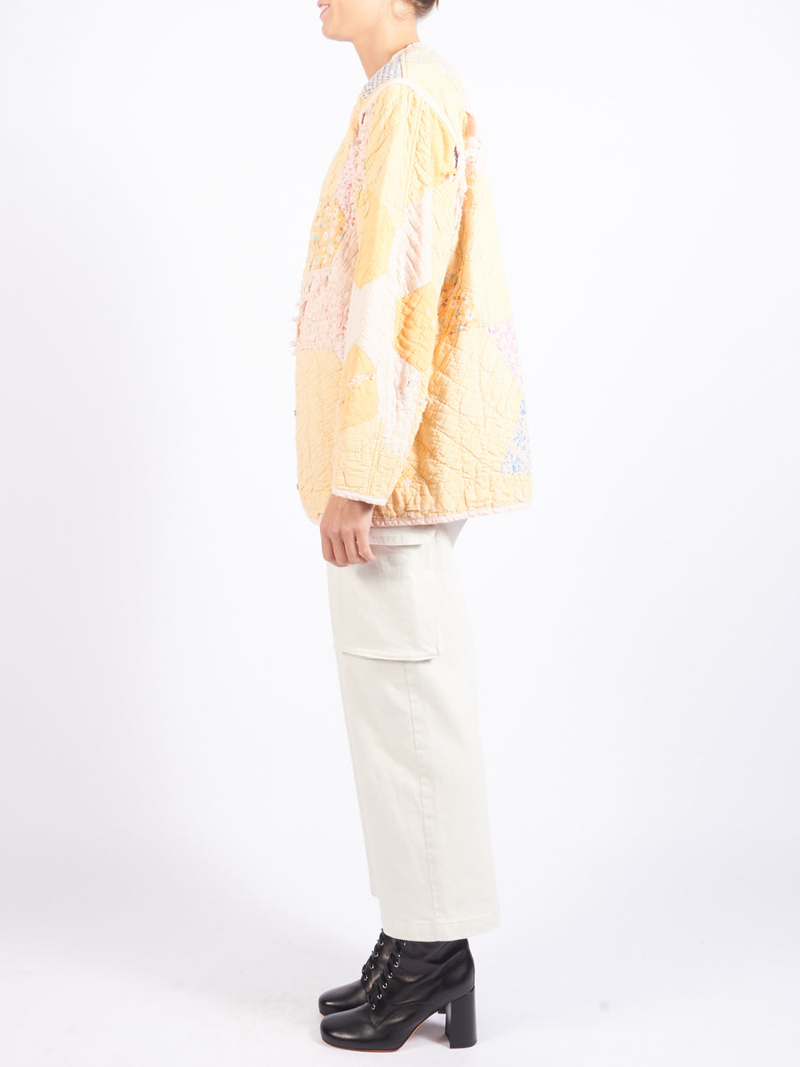 Pink/Yellow Overdye Quilt Liner Jacket
