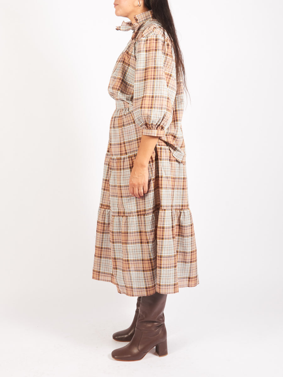 Caron-Callahan-Brown-Plaid-Claire-Top-On-Body