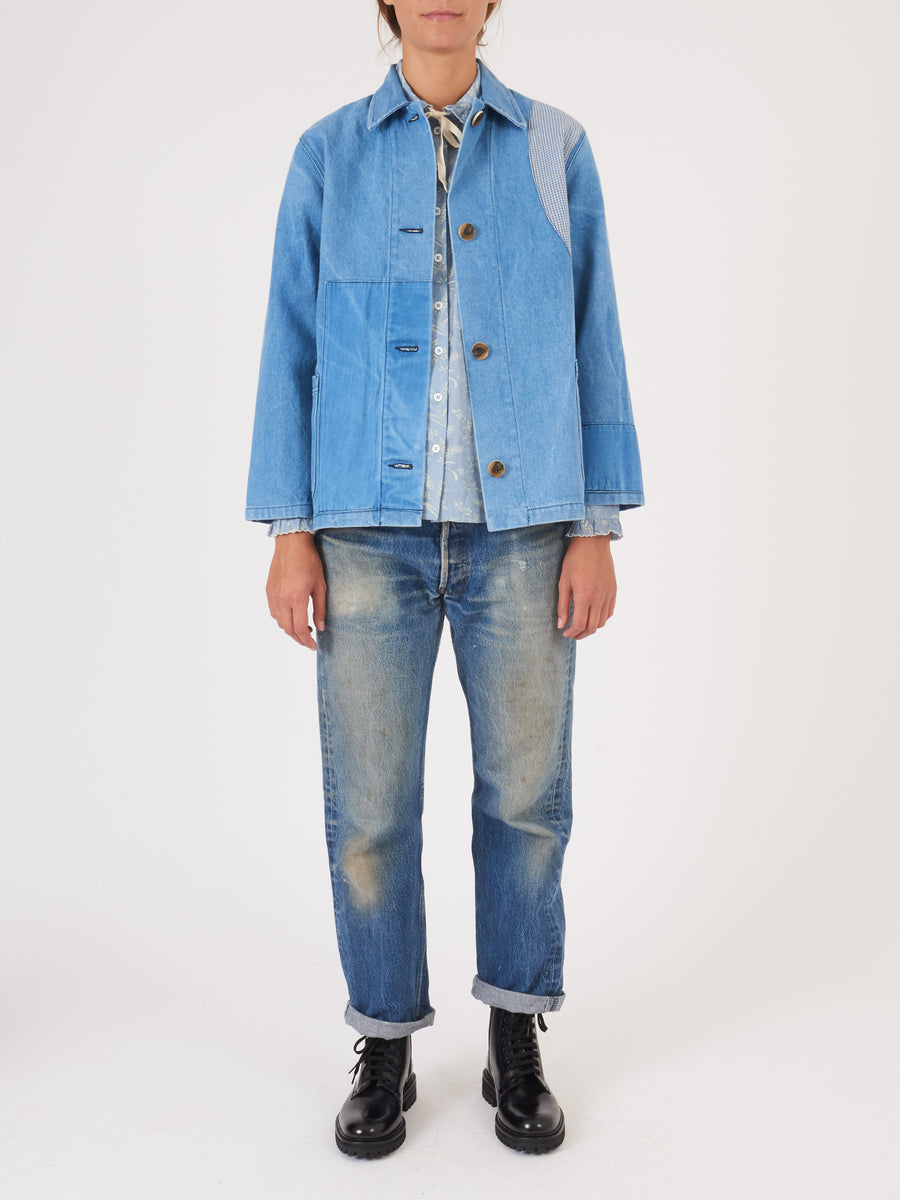 Caron-Callahan-Denim-Patchwork-Krasner-Jacket-on-body