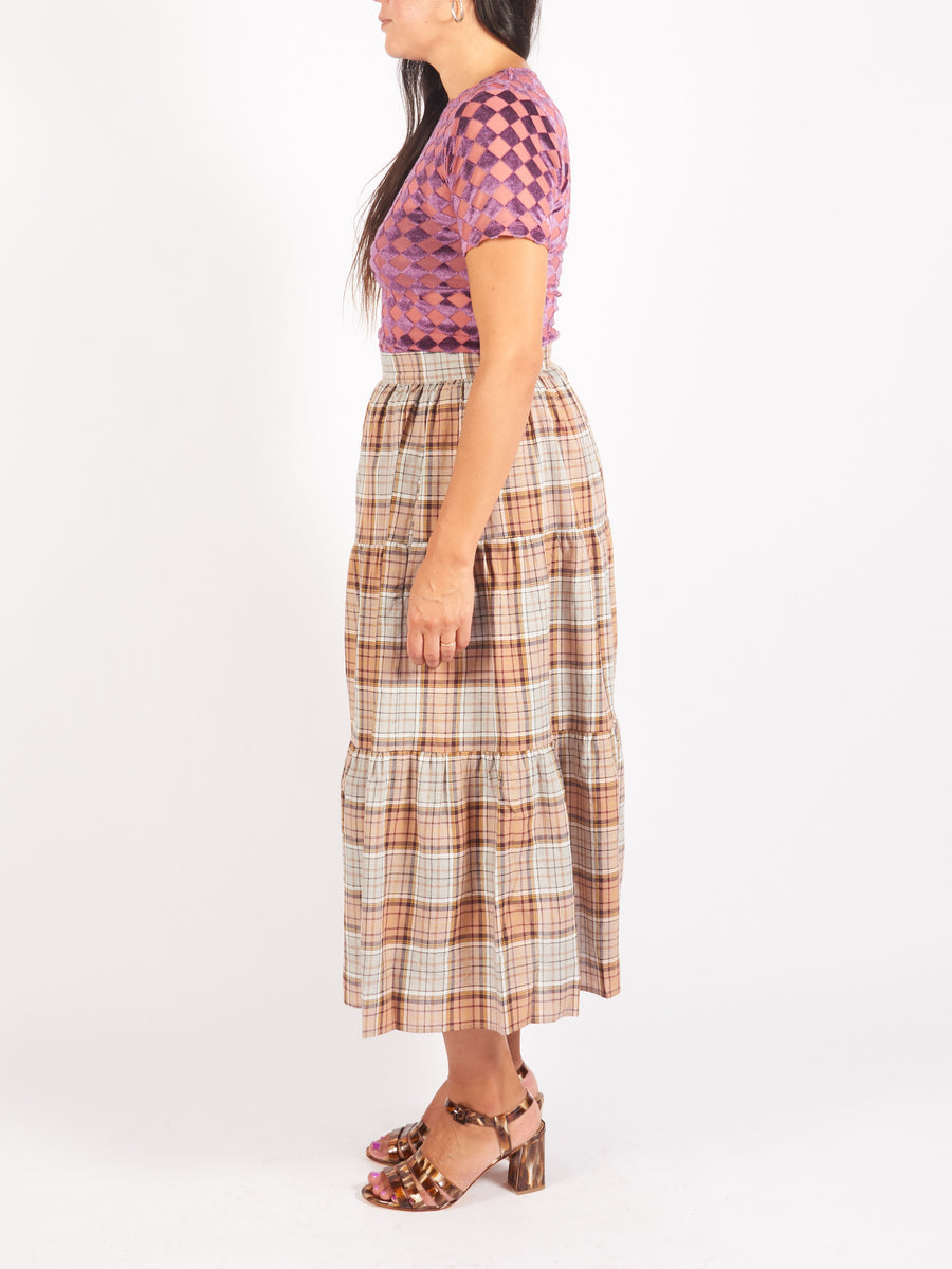 CaronCallahan-Brown-Plaid-Pixie-Skirt-On-Body