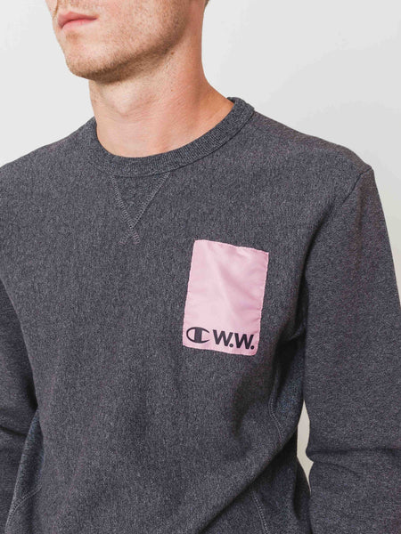 Grey Logo Crewneck Sweatshirt