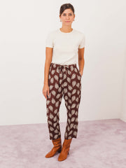 chimala-brown-aloha-cropped-drawstring-pants-on-body