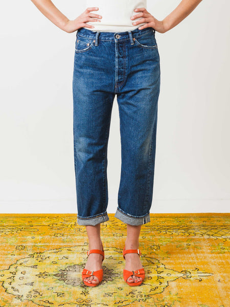 chimala-medium-vintage-selvedge-wide-tapered-cut-denim-on-body