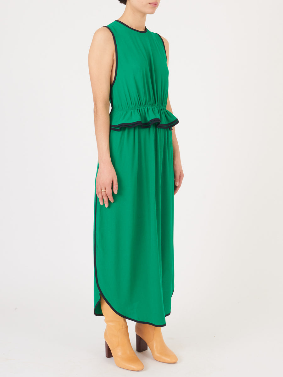 Church-&-State-Kelly-Green-Peplum-Dress-on-body