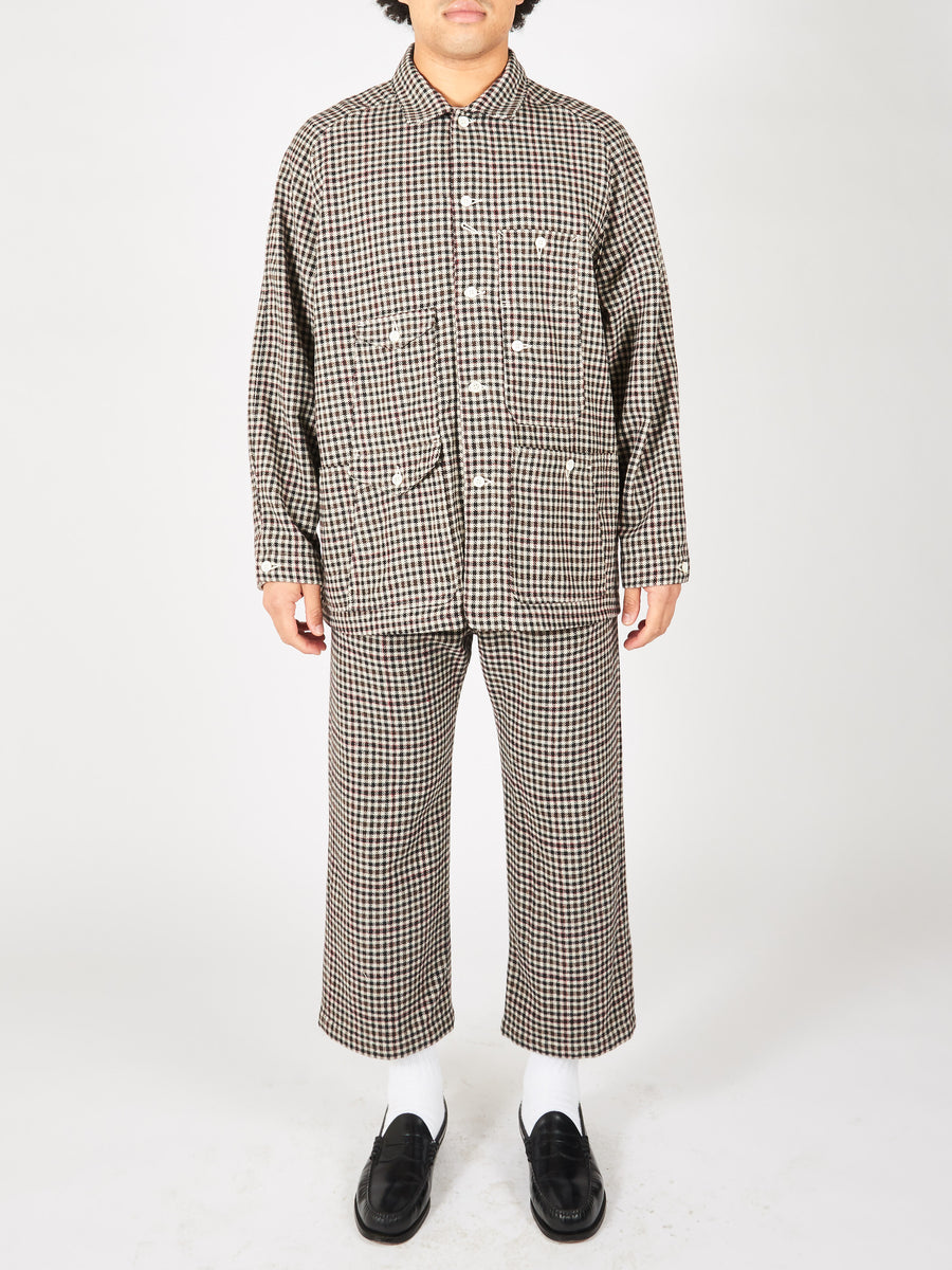 Dogtooth Check Big Raglan Overshirt
