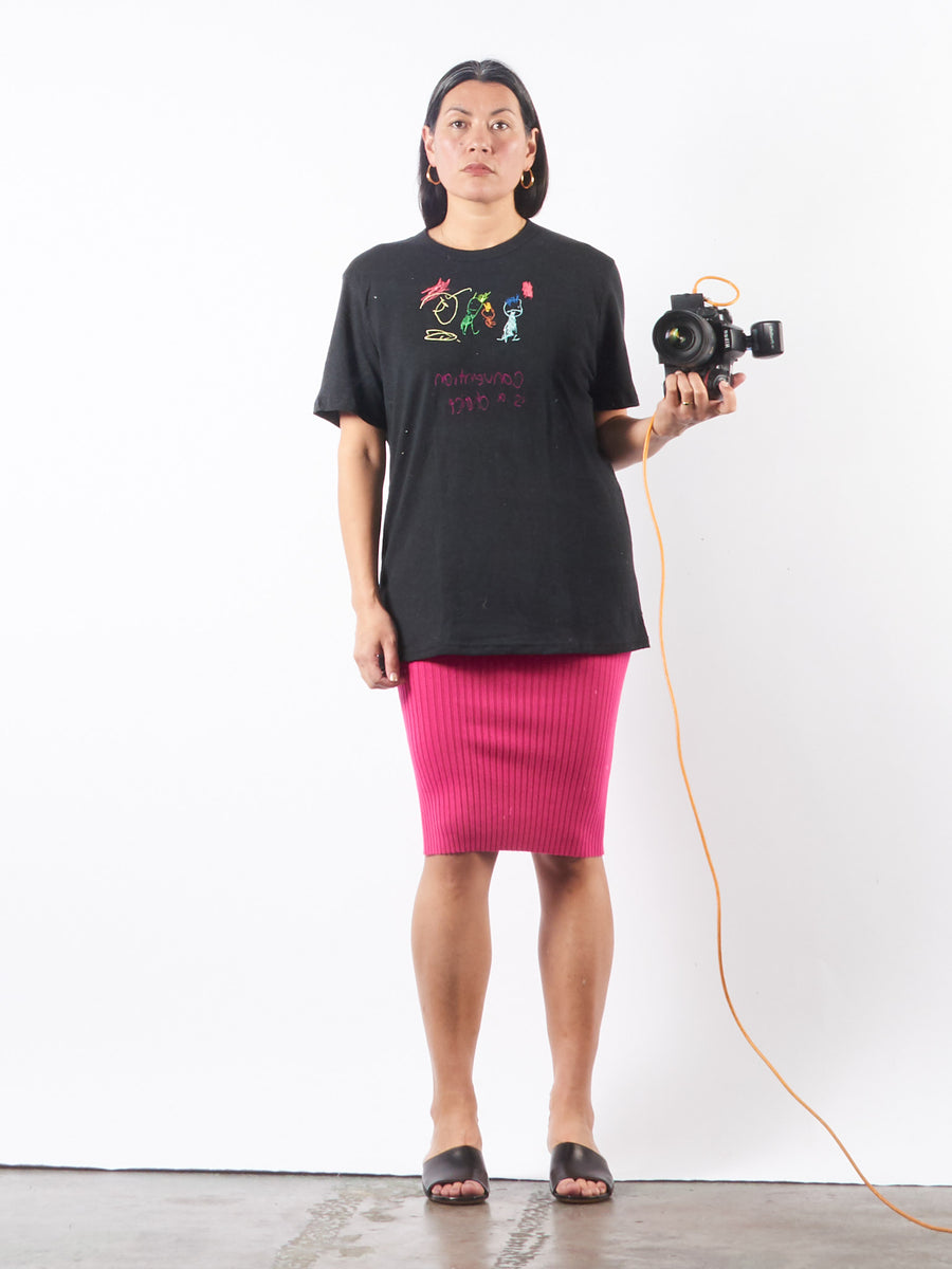 collina-strada-black-convention-tee-on-body