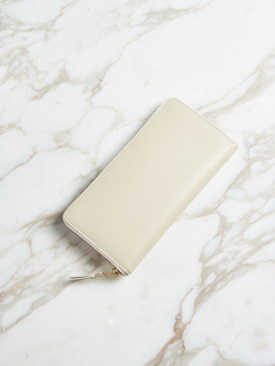 Off White Classic Zip Wallet