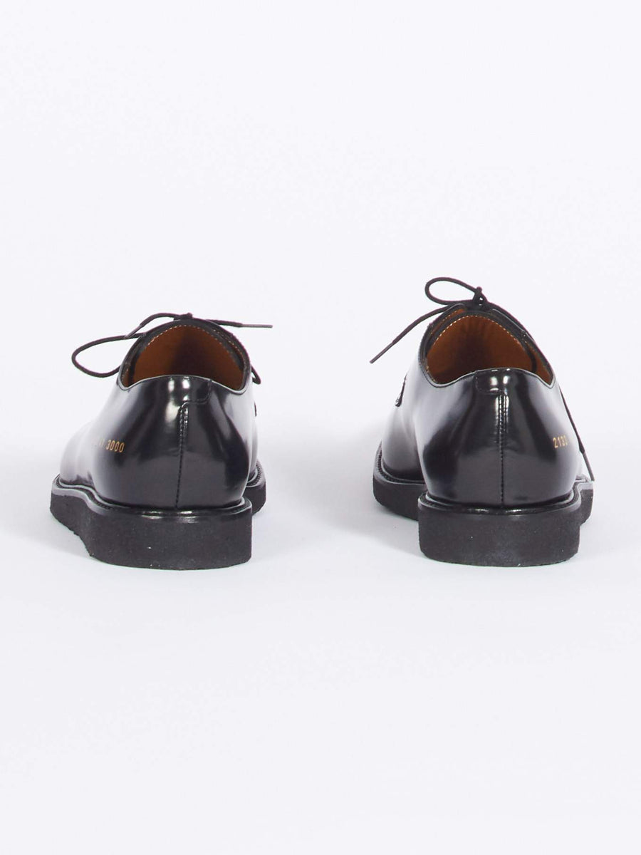 Common-Projects-Black/Black-Derby-Shine