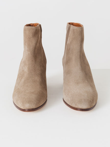 common-projects-grey-suede-zip-ankle-boots