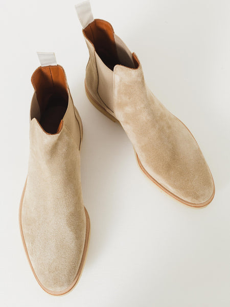 Light Tan Suede Chelsea Boot