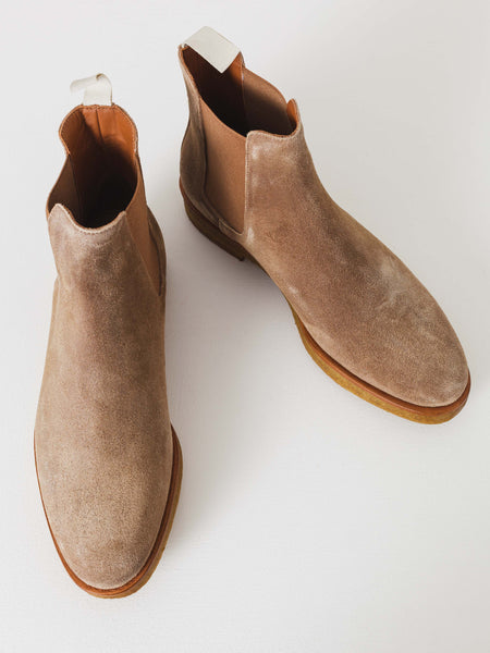 Suede Tan Chelsea Boot