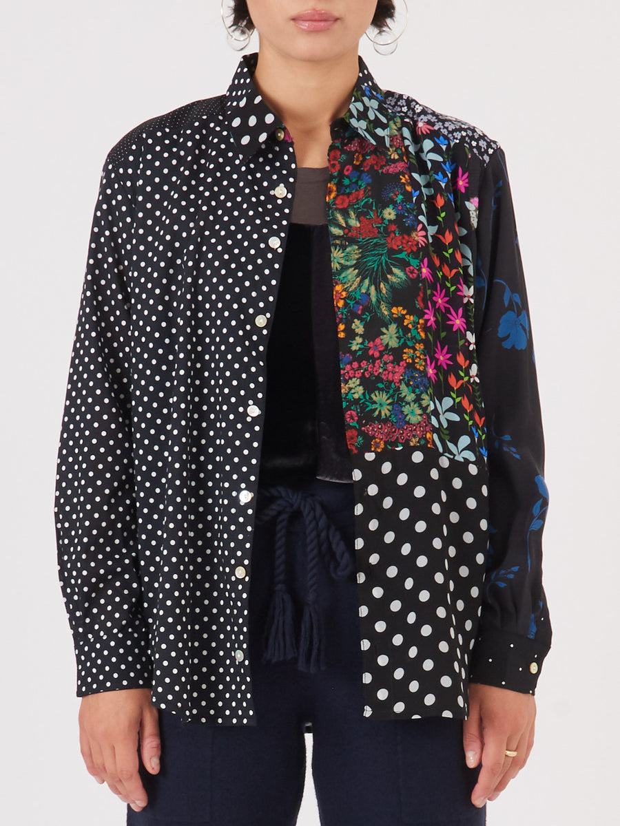 correll-correll-black-recycled-button-down-on-body