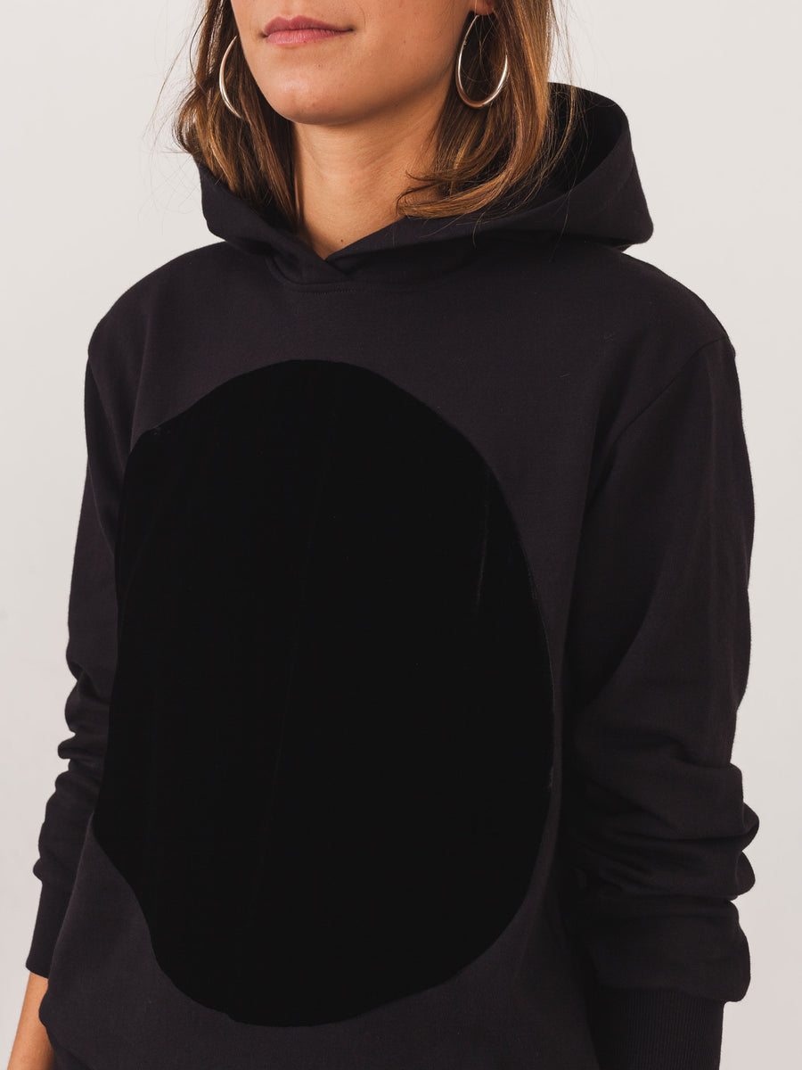 correll-correll-black-velvet-hooded-sweatshirt-on-body