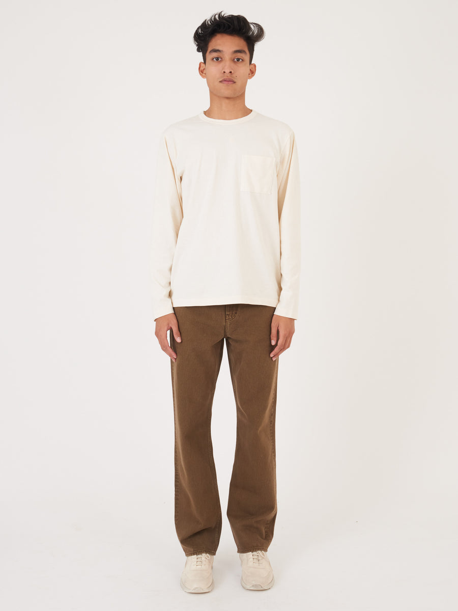 Natural Heavy Duty L/S Pocket T-Shirt