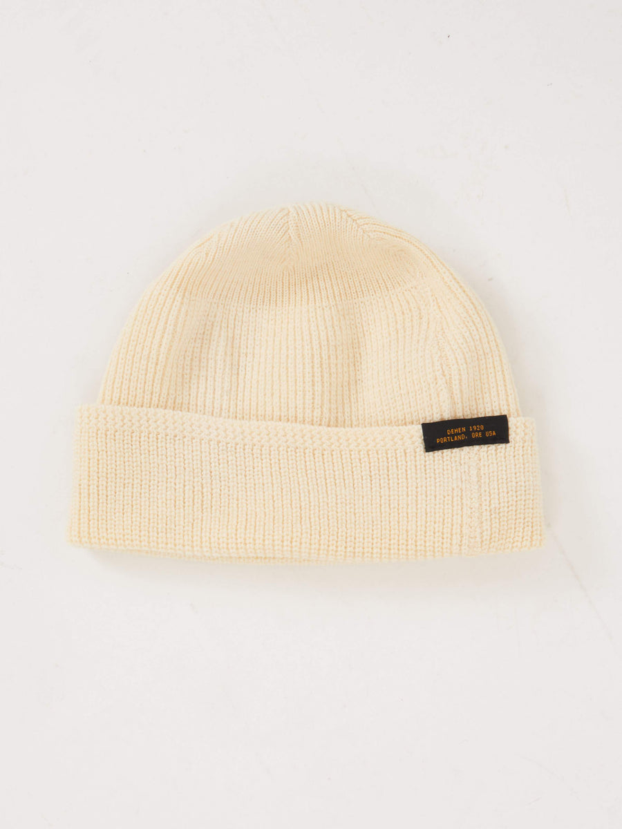Natural Wool Knit Watch Cap