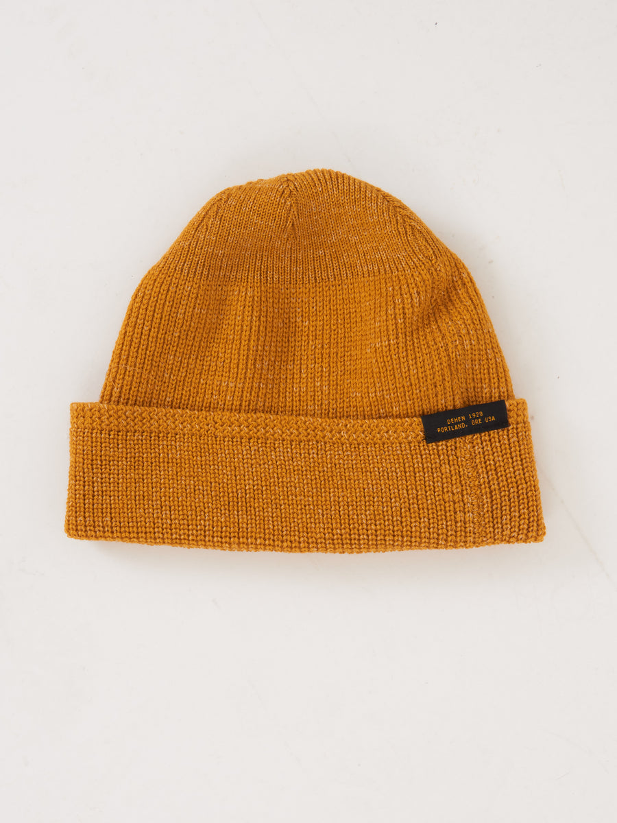 Old Gold Wool Knit Watch Cap