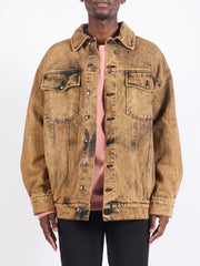 Khaki Acid Nouveau Denim Jacket