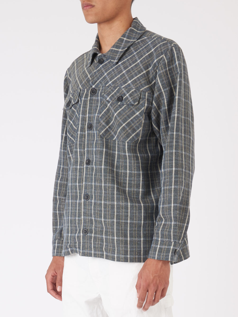Éditions-M.R-Blue-Kostas-Overshirt-on-body