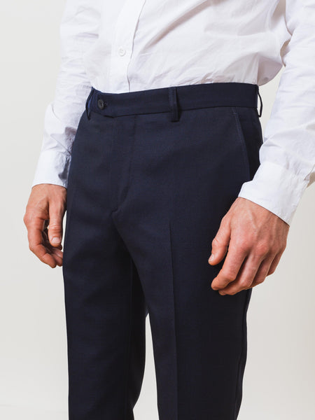 Navy Tailored Pants