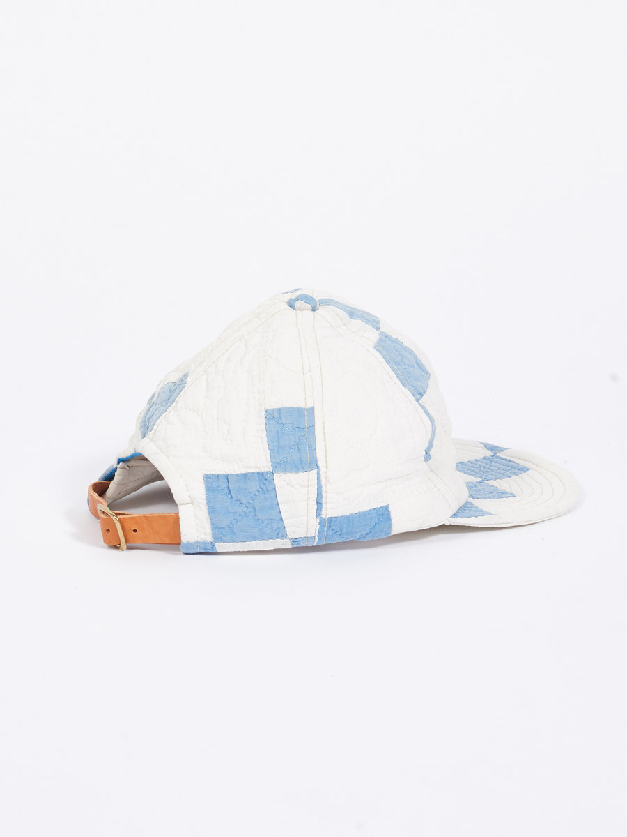 White/Light Blue Quilted Ballcap