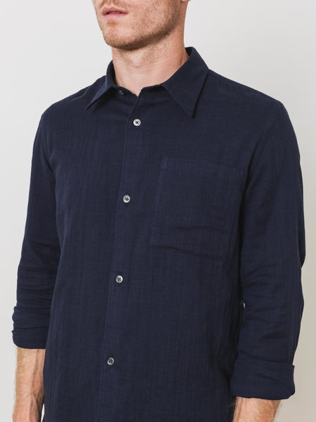 etudes-navy-family-weave-shirt-on-body
