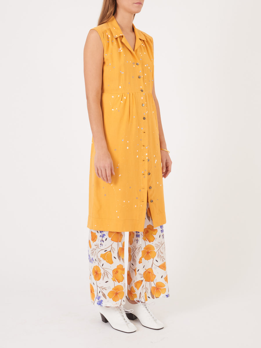Frances-May-Houseline-Mustard-Taylor-Shirt-Dress-on-body