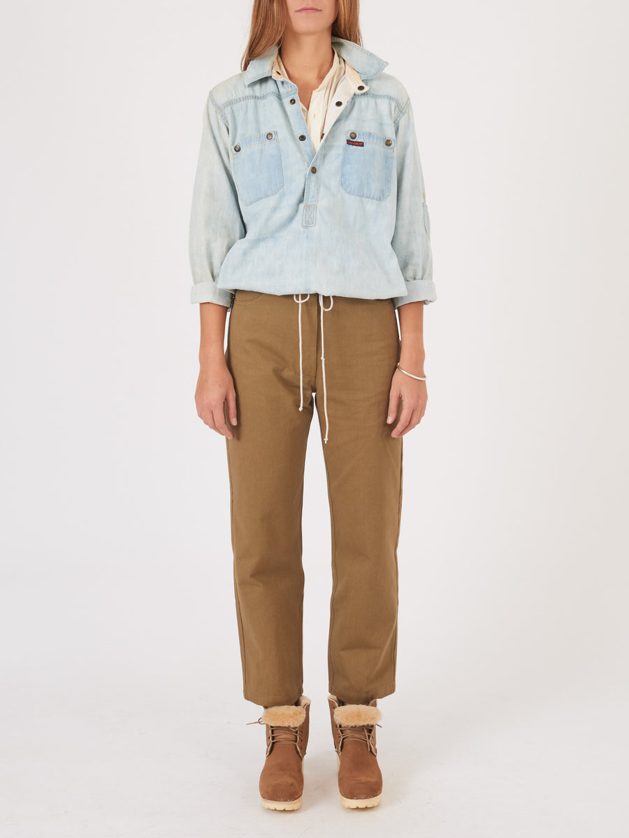 frances-may-khaki-canvas-bobby-trousers-on-body