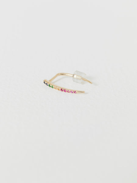 gabriela-artigas-rainbow-pave-infinite-tusk-single-earring