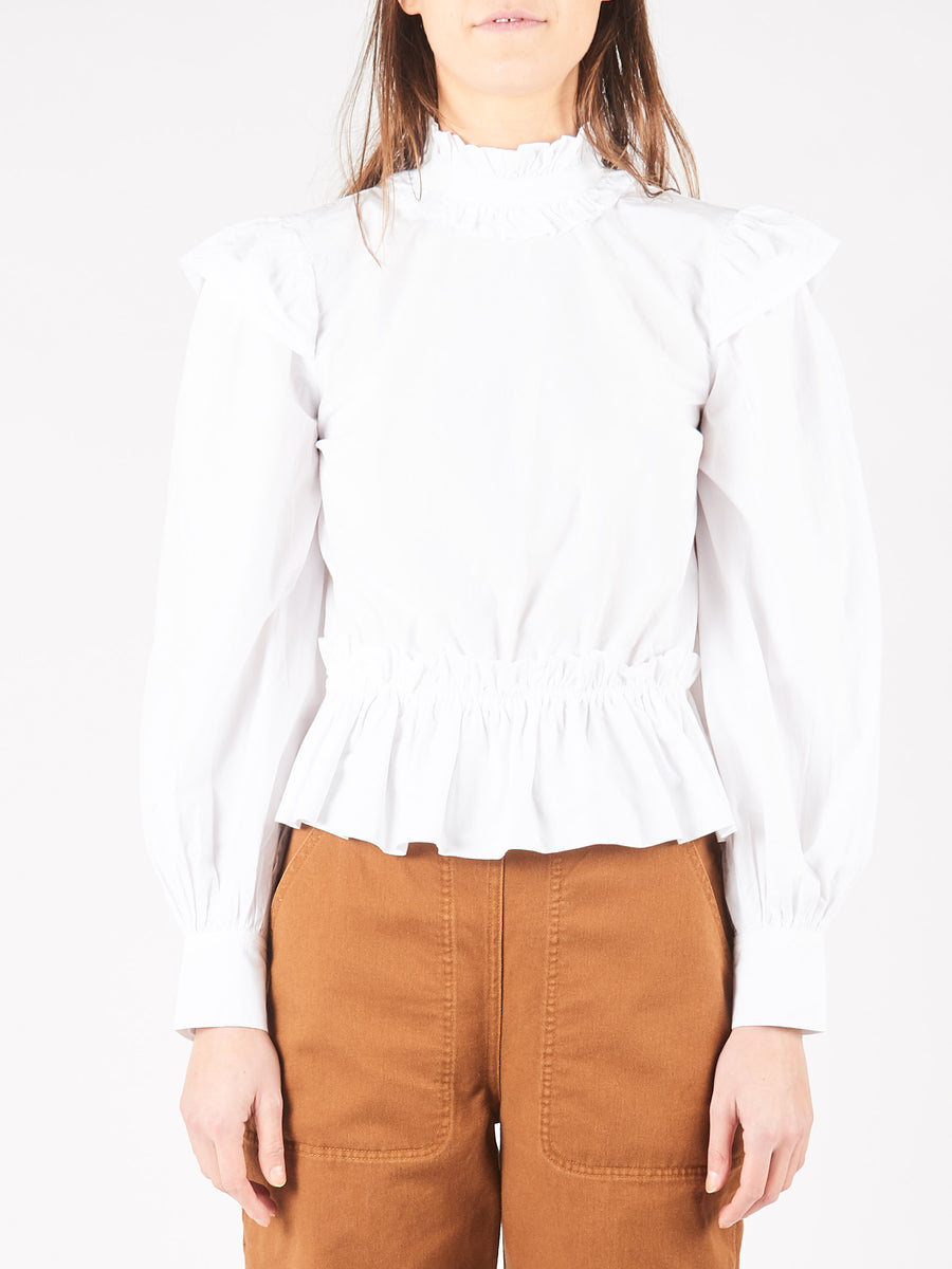 Bright White Cropped Blouse