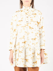 Cognac Printed Oversized Dress
