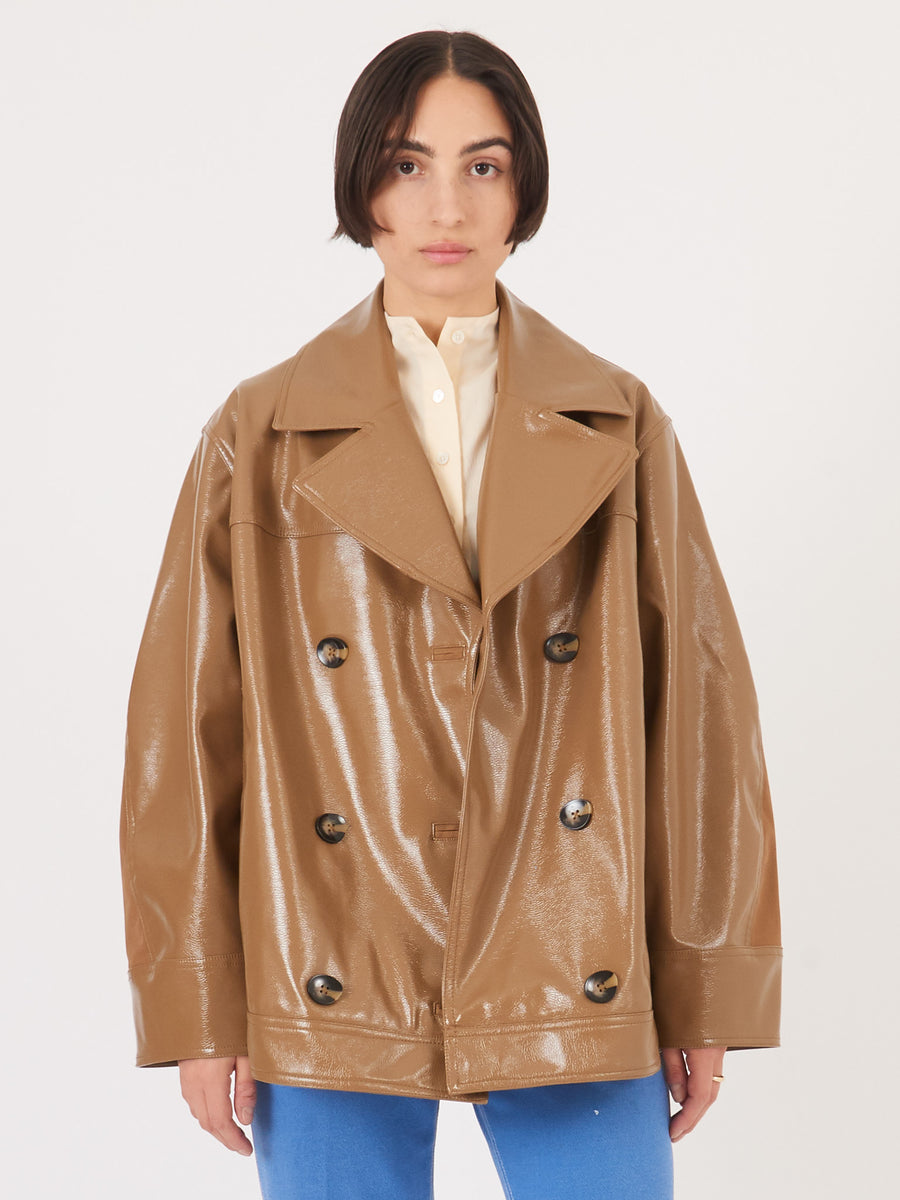 Ganni-Ermine-Patent-Jacket-on-body