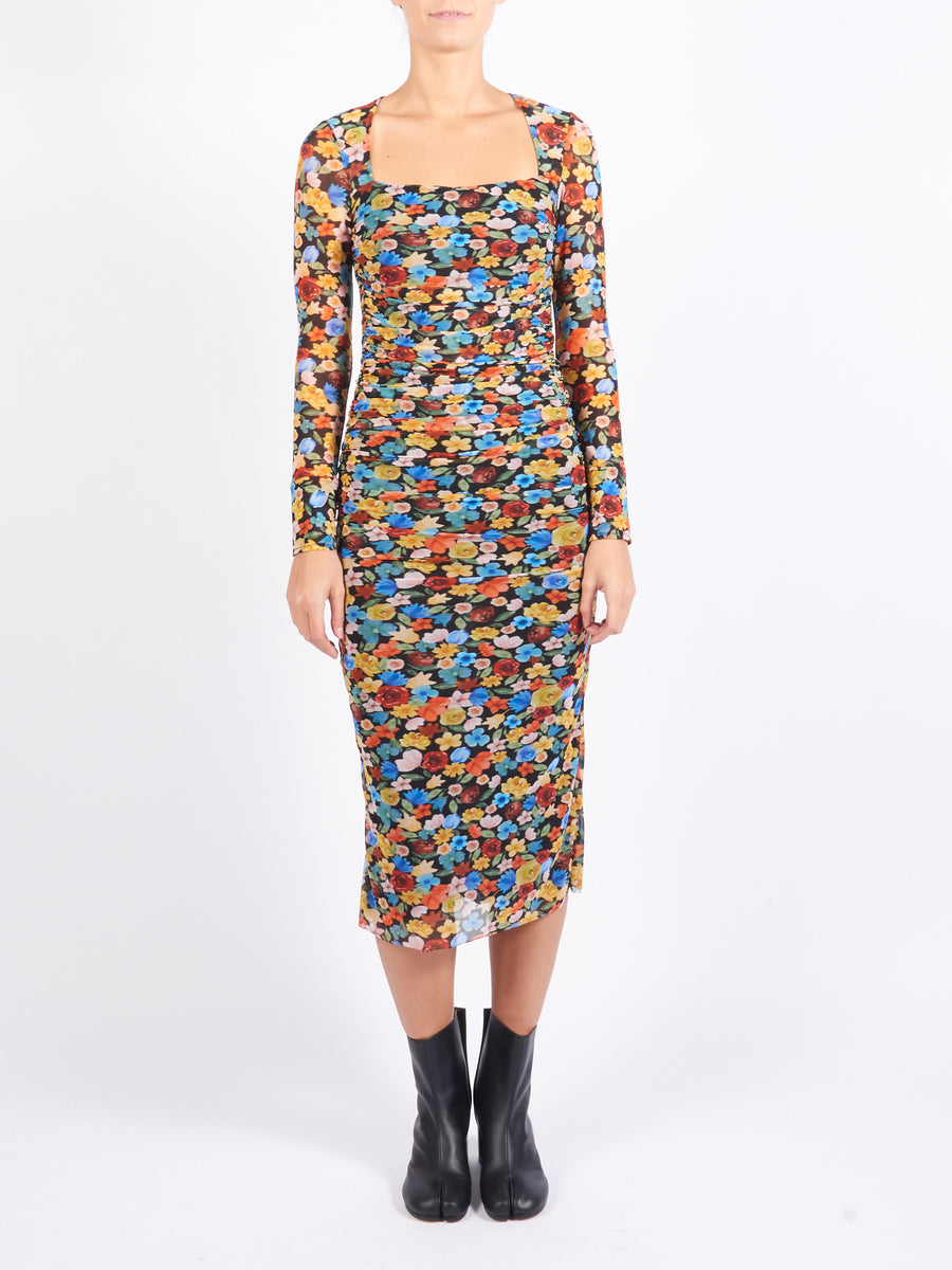 Multicolour Mesh Dress