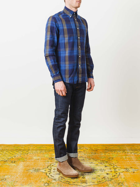 Navy Madras Shirt