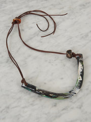 Dove-Drury-Hornbuckle-Green/White-Crescent-Necklace