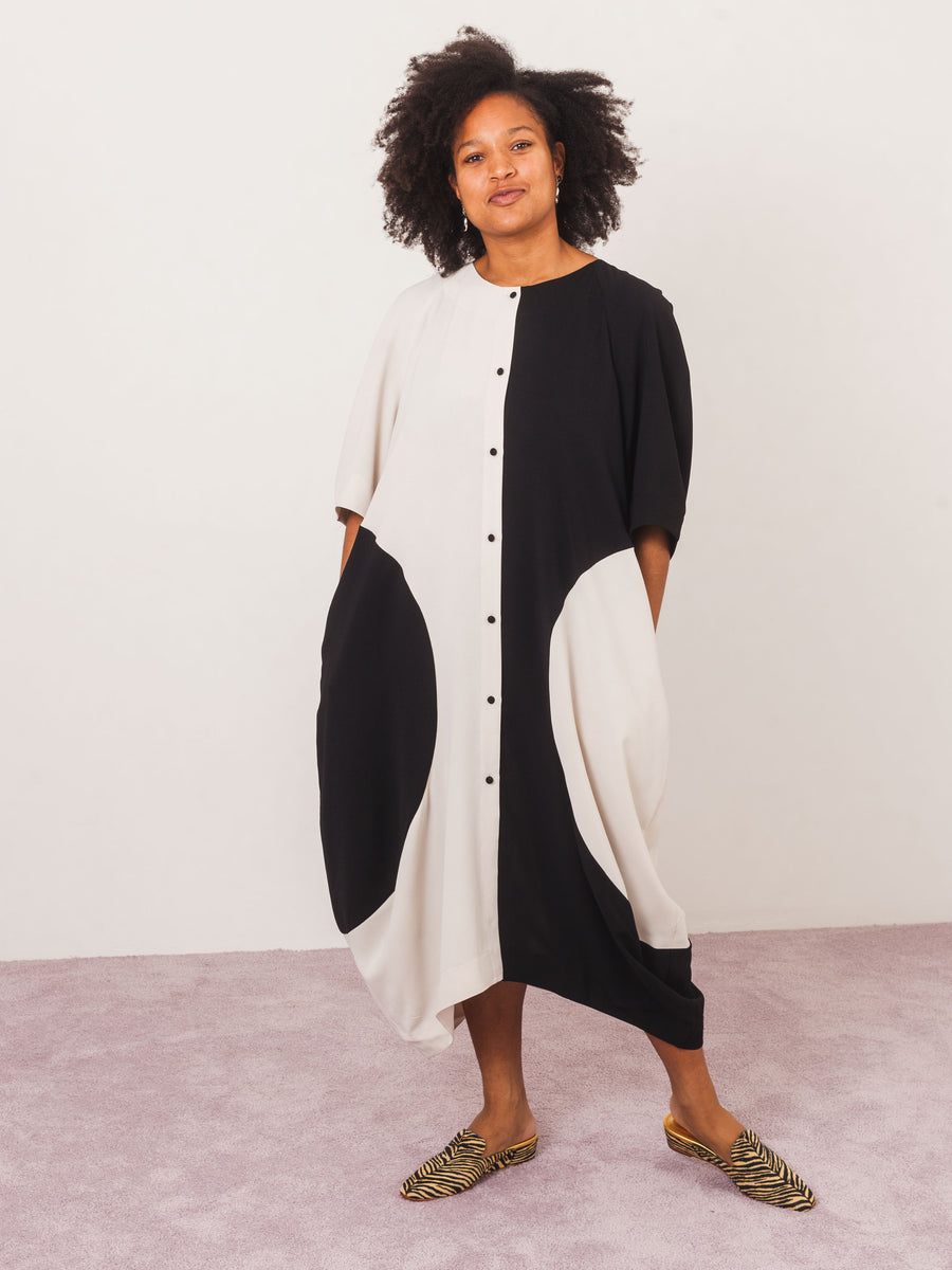 henrik-vibskov-black-cream-circle-dress-on-body