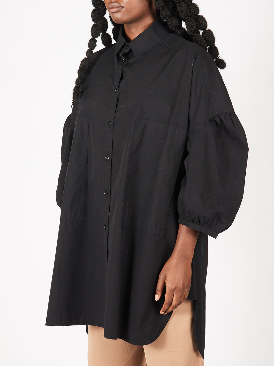 Black Moment Shirtdress