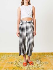 henrik-vibskov-black-and-white-check-flip-pants-on-body