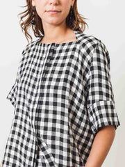 henrik-vibskov-black-and-white-checks-flip-shirt