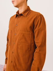 Henrik-Vibskov-Chestnut-Upper-Shirt-on-body