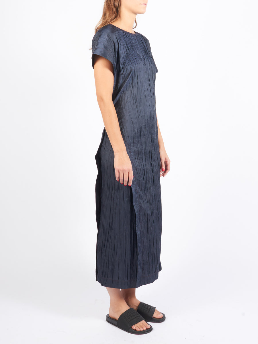 Graphite Asymmetrical Wrap Dress