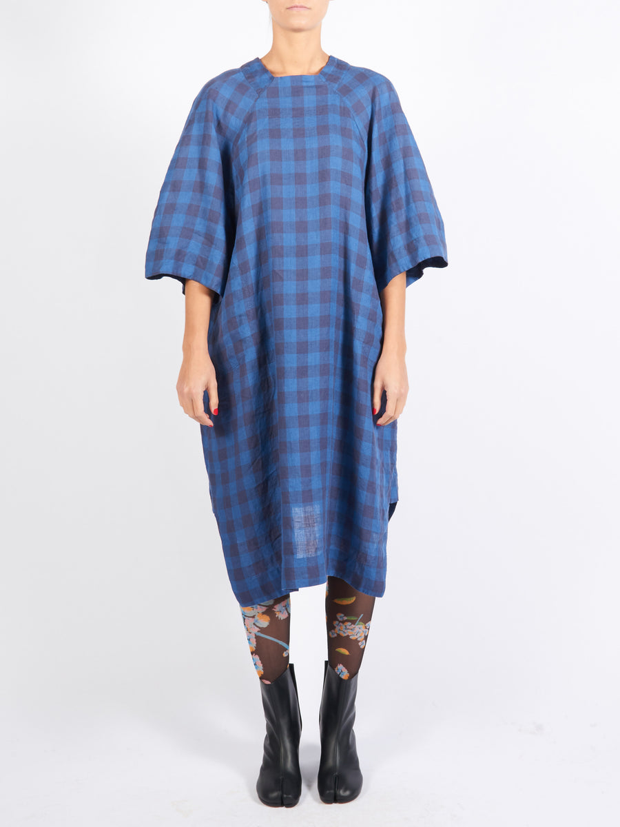 Indigo Wash Sponge Dress