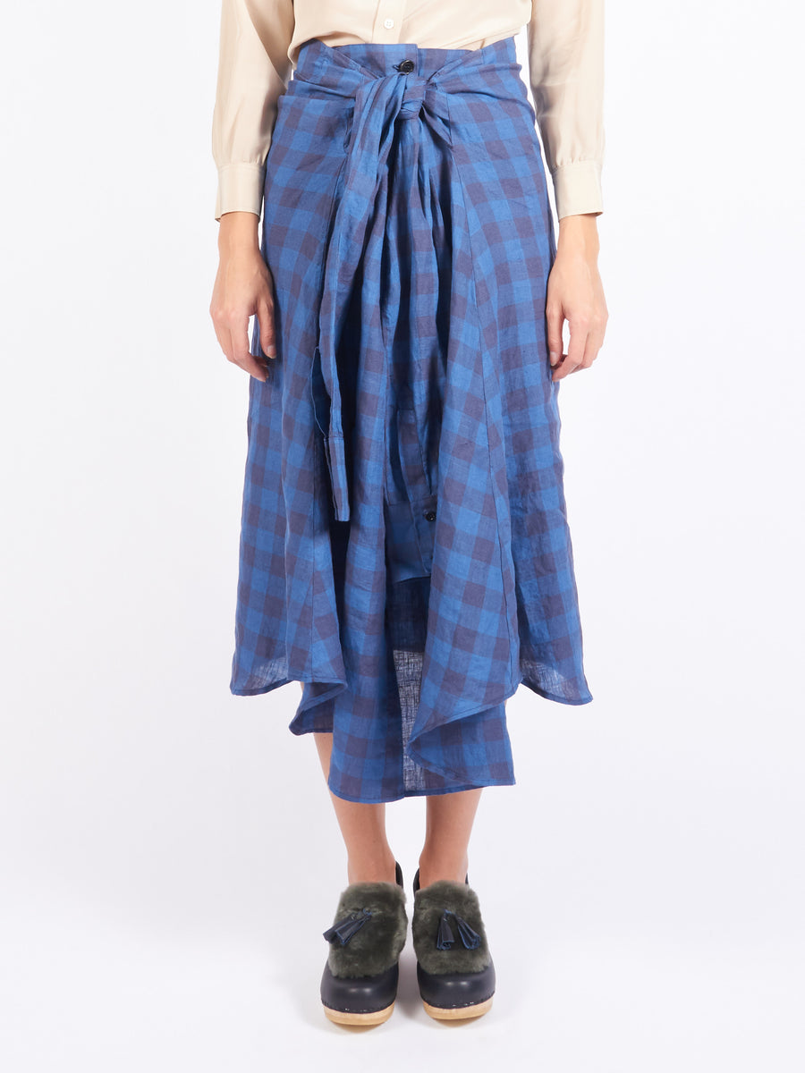 Indigo Wash Towel Shirt Skirt