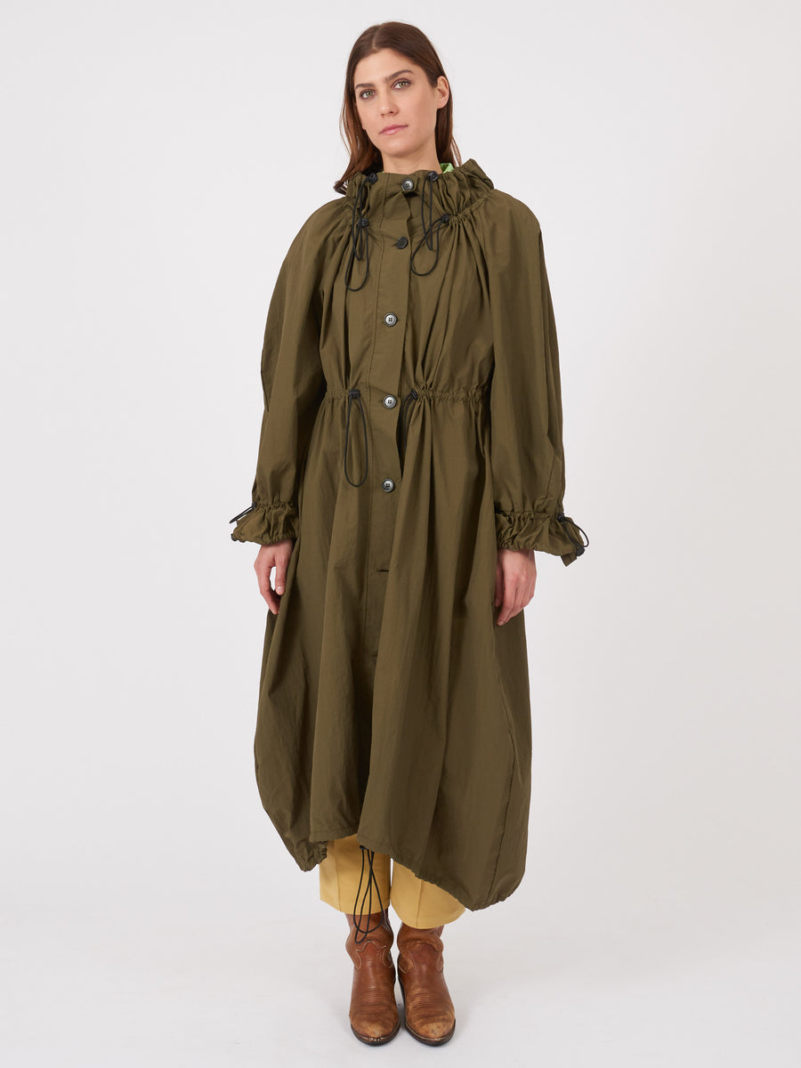 henrik-vibskov-Military-Green-Exhale-Parka-on-body