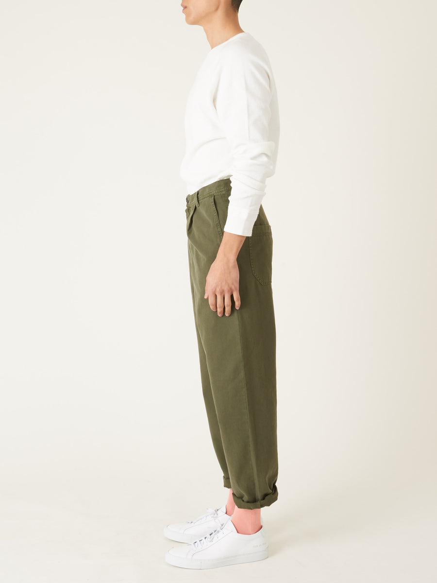 Henrik-Vibskov-Olive-Piano-Pants-on-body